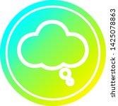 thought bubble circular icon... | Shutterstock .eps vector #1425078863