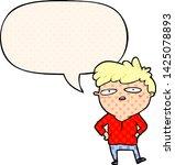 cartoon impatient man with... | Shutterstock .eps vector #1425078893