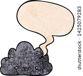 happy cartoon cloud with speech ... | Shutterstock .eps vector #1425079283