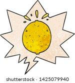 cartoon lemon with speech... | Shutterstock .eps vector #1425079940