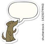 cartoon dog with speech bubble... | Shutterstock .eps vector #1425079943
