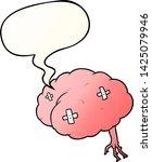 cartoon injured brain with... | Shutterstock .eps vector #1425079946