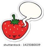 cartoon strawberry with speech... | Shutterstock .eps vector #1425080039