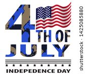 4th of july in khaki style... | Shutterstock .eps vector #1425085880