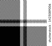 Stock vector tartan pattern seamless buffalo check plaid pattern vector in monochrome black and white for 1425089006
