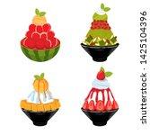 dessert set  sweet dessert ... | Shutterstock .eps vector #1425104396