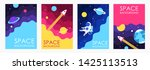 cartoon space. galaxy. set of... | Shutterstock .eps vector #1425113513