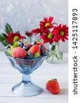 fresh berries  strawberries ... | Shutterstock . vector #1425117893