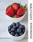 fresh berries  strawberries ... | Shutterstock . vector #1425117896