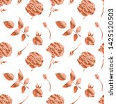 rose gold seamless pattern.... | Shutterstock .eps vector #1425120503