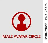 filled male avatar circle icon. ...   Shutterstock .eps vector #1425125576