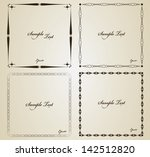 vintage frames with heart and... | Shutterstock .eps vector #142512820