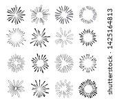 set of isolated sunburst rays...   Shutterstock .eps vector #1425164813