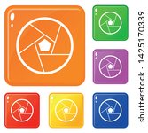 photographic lens icons set... | Shutterstock .eps vector #1425170339
