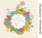 Cute Floral Background With...