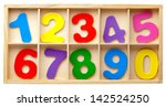 color cards with numbers in a... | Shutterstock . vector #142524250
