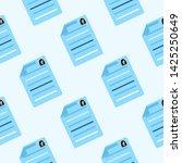 summary icon seamless pattern.... | Shutterstock . vector #1425250649