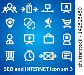 internet and seo icons set | Shutterstock .eps vector #142525450