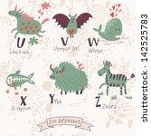 cute zoo alphabet in vector. u  ... | Shutterstock .eps vector #142525783