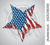 Star America Usa Flag Abstract...