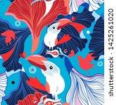seamless festive pattern of... | Shutterstock .eps vector #1425261020