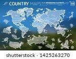 america  asia  africa  europe ... | Shutterstock .eps vector #1425263270