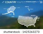 united states of america ... | Shutterstock .eps vector #1425263273