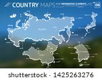 russia  japan  china and south... | Shutterstock .eps vector #1425263276