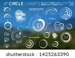 circle charts  pie charts ... | Shutterstock .eps vector #1425263390