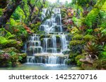 Waterfall In Thailand.view Of...