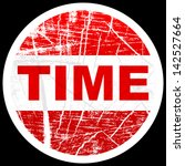 time sticker | Shutterstock .eps vector #142527664