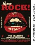 space rock gig poster flyer... | Shutterstock .eps vector #1425284363