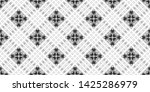 seamless black and white... | Shutterstock . vector #1425286979