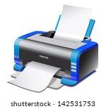 a colored inkjet printer   Shutterstock . vector #142531753