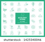 set of ecology icons in line | Shutterstock .eps vector #1425340046