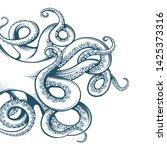 hand drawn octopus tentacles... | Shutterstock .eps vector #1425373316