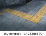 tactile paving on footpath for... | Shutterstock . vector #1425386570