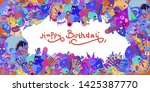 happy birthday greeting card... | Shutterstock .eps vector #1425387770