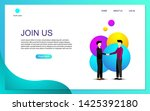 landing page template design... | Shutterstock .eps vector #1425392180