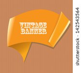 vector abstract vintage orange... | Shutterstock .eps vector #142543564