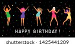 happy birthday greeting card.... | Shutterstock .eps vector #1425441209