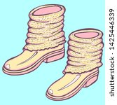 realistic hand drawn shoes with ... | Shutterstock .eps vector #1425446339