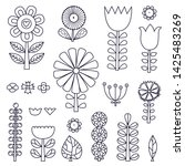 linear flowers in scandinavian... | Shutterstock .eps vector #1425483269
