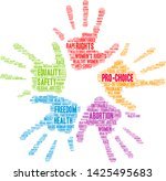 pro choice word cloud on a... | Shutterstock .eps vector #1425495683
