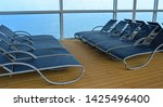 empty sunbed lounge chairs for... | Shutterstock . vector #1425496400