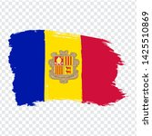 flag andorra from brush strokes....
