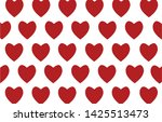 red heart icons seamless on... | Shutterstock .eps vector #1425513473