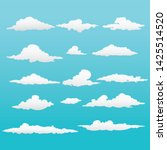 beautiful set clouds vector...