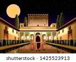 courtyard of the myrtles in la...   Shutterstock .eps vector #1425523913