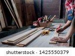 carpenter working with... | Shutterstock . vector #1425550379